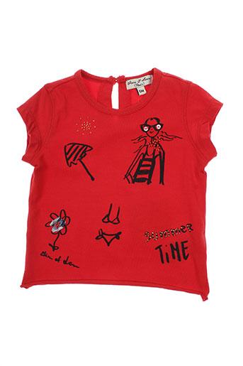 eliane et lena t-shirts fille de couleur rouge