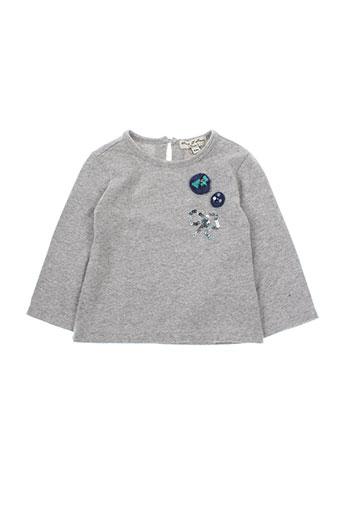 eliane et lena t-shirts fille de couleur gris