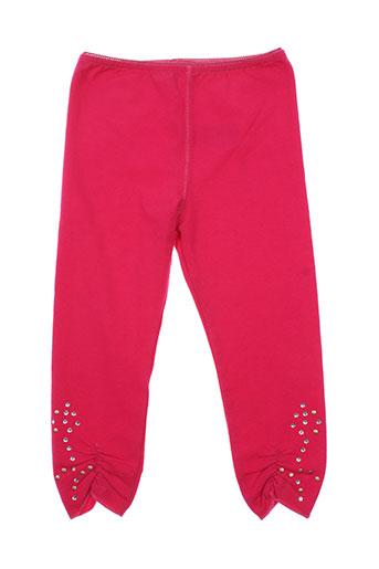 eliane et lena pantalons fille de couleur rose