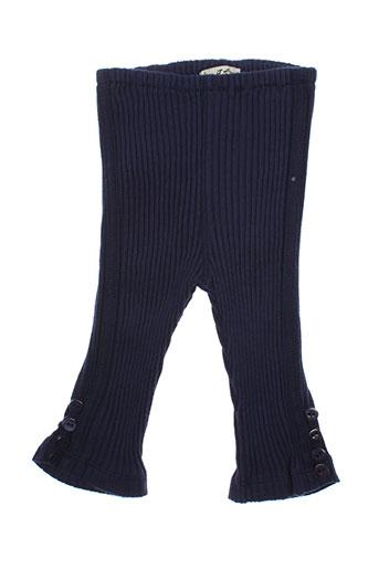 eliane et lena pantalons fille de couleur bleu