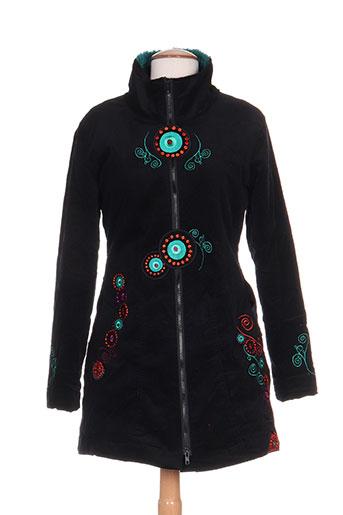 coline manteaux femme de couleur noir