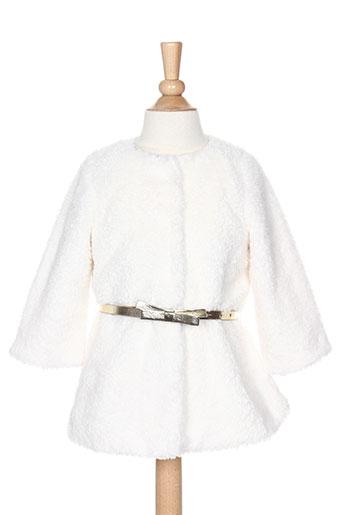billieblush manteaux fille de couleur blanc