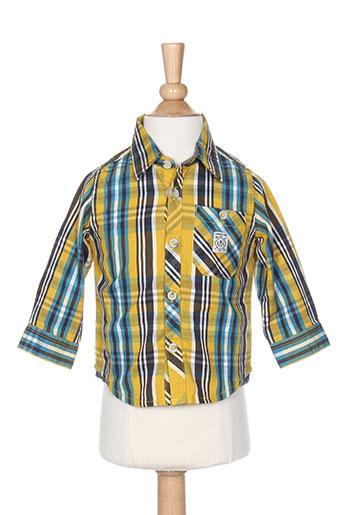 timberland chemises garçon de couleur jaune