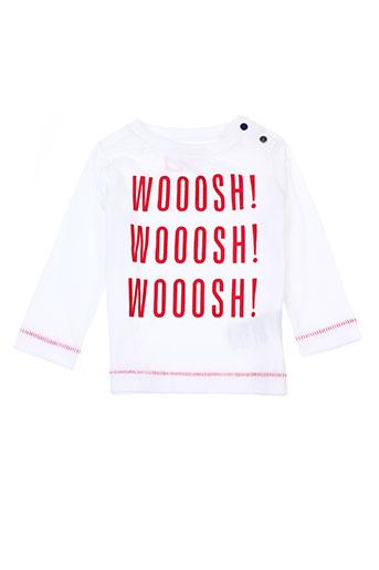 T-shirt manches longues blanc TUMBLE'N DRY pour garçon