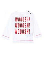 T-shirt manches longues blanc TUMBLE'N DRY pour garçon seconde vue