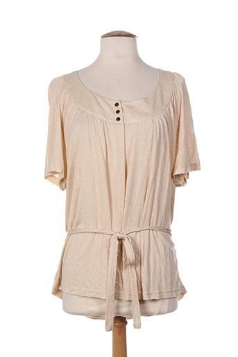 villa bleue t-shirts / tops femme de couleur beige