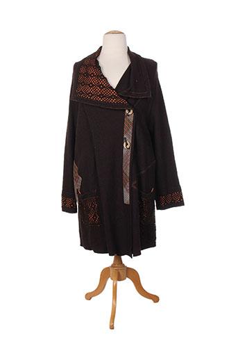 maksim.z manteaux femme de couleur marron
