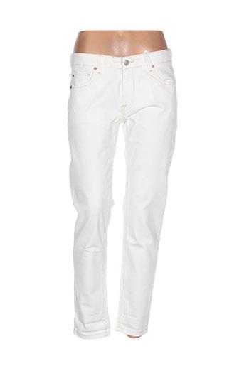 mkt studio jeans femme de couleur blanc