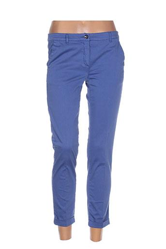 i blues pantalons femme de couleur bleu