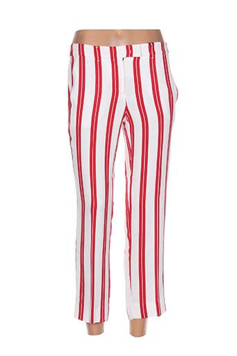 marella pantalons femme de couleur rouge