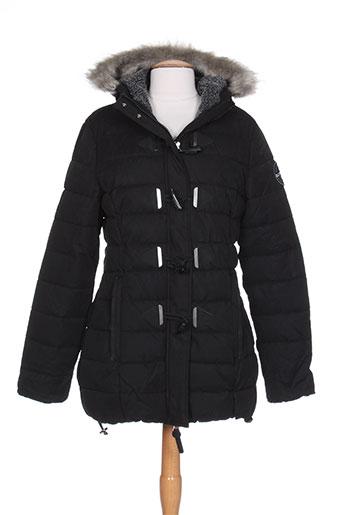 superdry manteaux femme de couleur noir