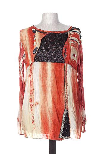 elisa cavaletti t-shirts femme de couleur orange
