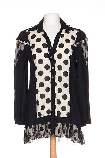 rhum raisin chemises femme de couleur noir