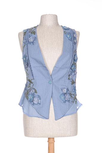 rosa EFFI_CHAR_1 rose gilets femme de couleur bleu