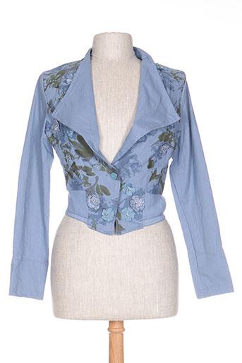 rosa EFFI_CHAR_1 rose vestes femme de couleur bleu