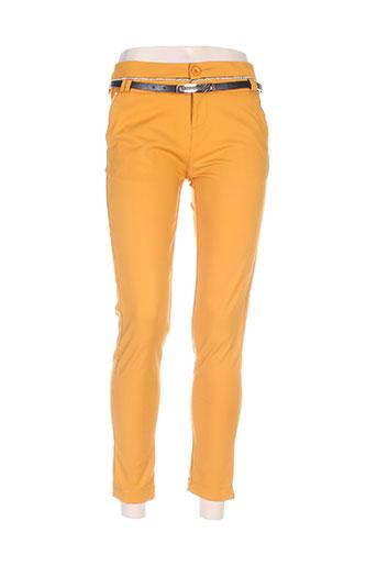chic etjeune pantalons femme de couleur orange