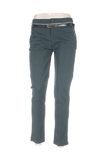 chic etjeune pantalons femme de couleur vert
