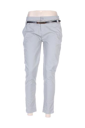 chic etjeune pantalons femme de couleur gris