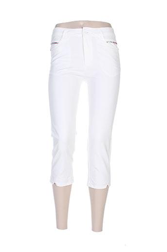farfalla pantalons femme de couleur blanc