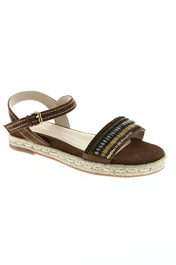 lola cruz chaussures femme de couleur marron