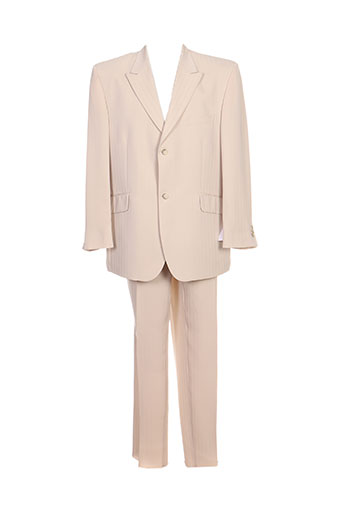franck elisee costumes homme de couleur beige