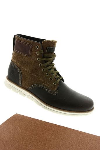 timberland chaussures homme de couleur marron