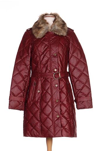 bearwood manteaux femme de couleur rouge