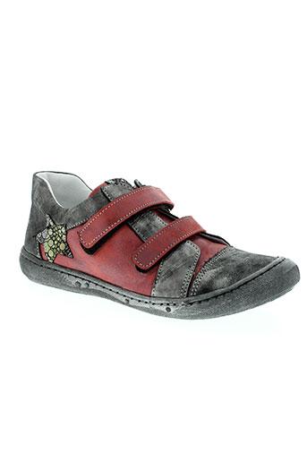 bellamy chaussures fille de couleur rouge