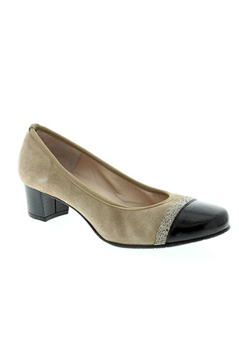 brenda zaro chaussures femme de couleur beige