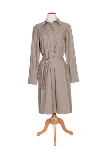 irene van ryb robes femme de couleur beige