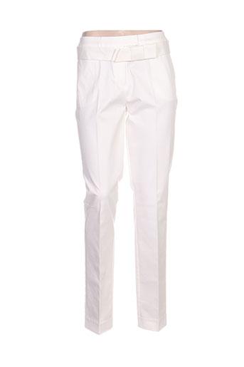 victoire pantalons femme de couleur blanc