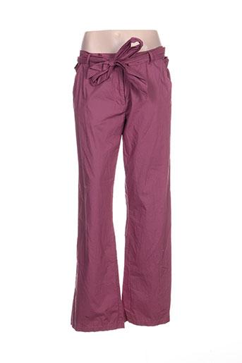 victoire pantalons femme de couleur rose