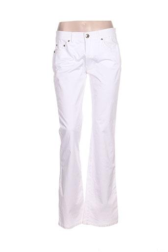 byblos pantalons femme de couleur blanc