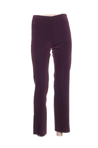 bye pantalons femme de couleur violet