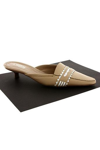 antica bottega chaussures femme de couleur beige