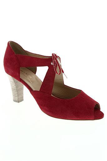france mode chaussures femme de couleur rouge