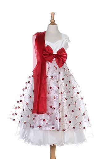 christella robes fille de couleur rouge