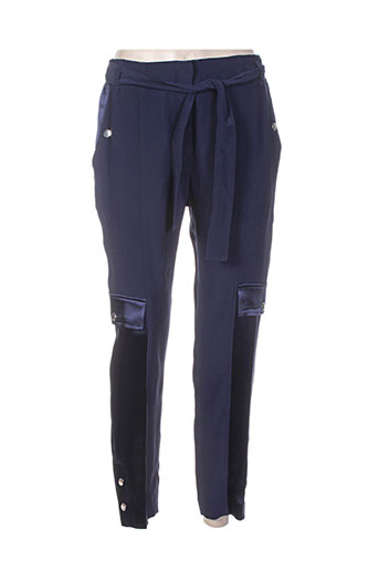 escada pantalons femme de couleur bleu