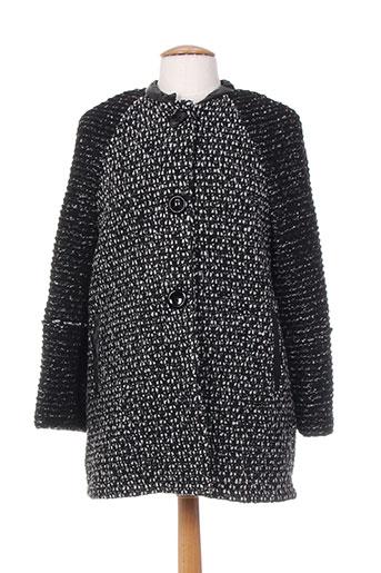 Manteau court noir POUSSIERE D'ETOLE pour femme