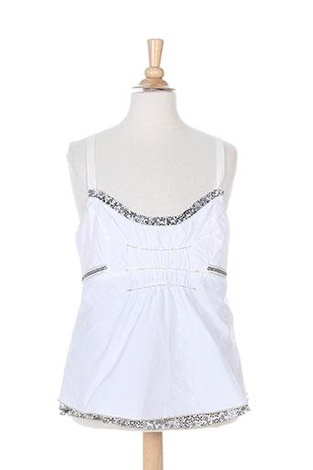 garella chemises femme de couleur blanc