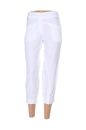 jc trigon pantacourts femme de couleur blanc