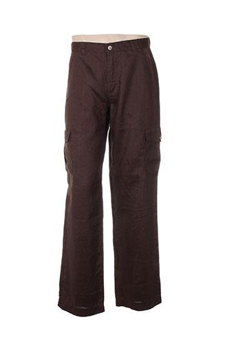 fuzzi pantalons homme de couleur marron