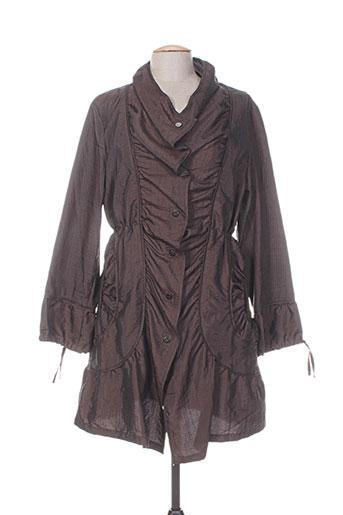 havrey manteaux femme de couleur marron