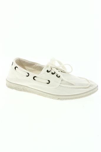 natural world chaussures garçon de couleur blanc
