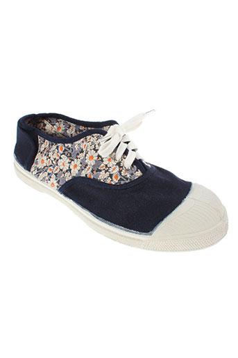 bensimon chaussures femme de couleur bleu
