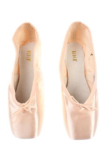 bloch chaussures femme de couleur rose