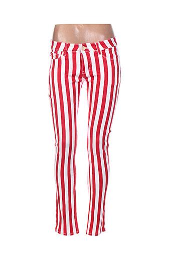 r.display pantalons femme de couleur rouge