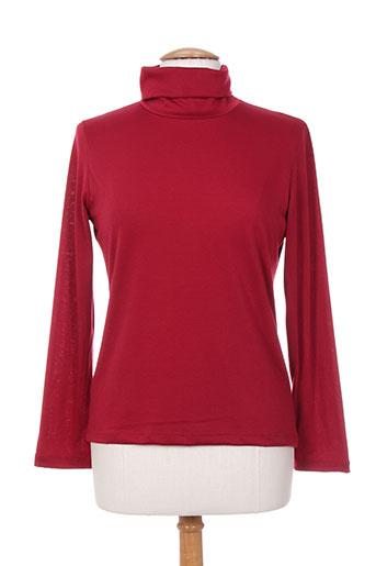 massana t-shirts femme de couleur rouge
