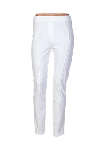 femmes je vous aime pantalons femme de couleur blanc