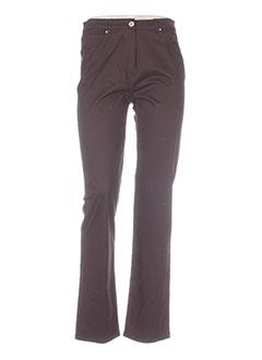 Pantalon casual marron CAROLE RICHARD pour femme